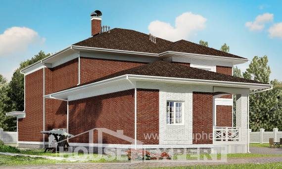 315-001-R Two Story House Plans with garage, luxury Plans Free,