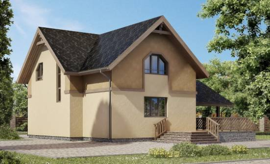 150-011-L Two Story House Plans with mansard with garage in front, the budget Plans Free,