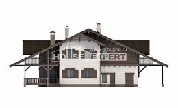 320-001-R Two Story House Plans with mansard with garage under, best house Drawing House,