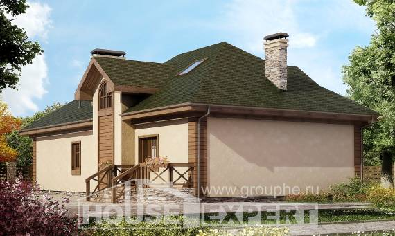 180-010-R Two Story House Plans and mansard with garage in back, a simple Blueprints,