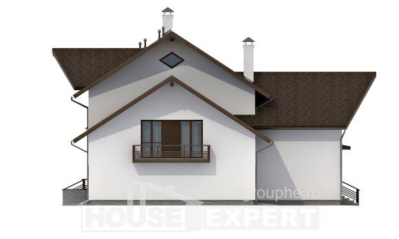 300-002-R Two Story House Plans and mansard with garage in front, modern House Plans,
