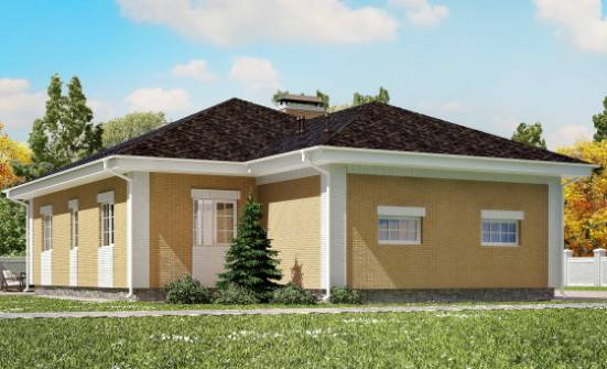 130-002-L One Story House Plans with garage in front, inexpensive House Building,
