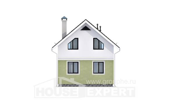 070-001-R Two Story House Plans and mansard, inexpensive House Blueprints,