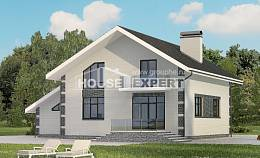 180-001-R Two Story House Plans with mansard with garage under, the budget Plans To Build,