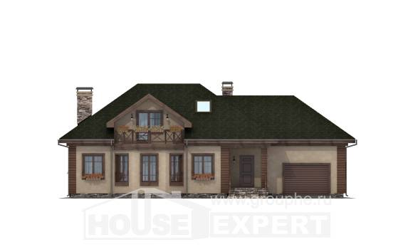 180-010-R Two Story House Plans with mansard with garage, cozy Plans To Build,