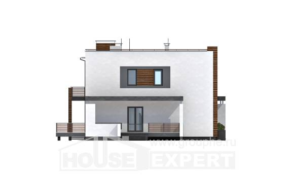 220-003-R Two Story House Plans with garage, average Cottages Plans,
