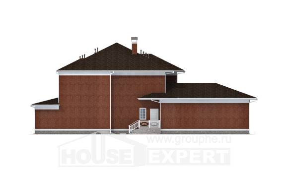 315-001-R Two Story House Plans with garage under, spacious Woodhouses Plans,