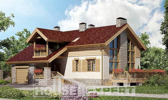 165-002-R Two Story House Plans with garage under, available House Planes, House Expert