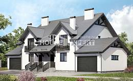 290-003-R Two Story House Plans and mansard with garage under, spacious Floor Plan, House Expert