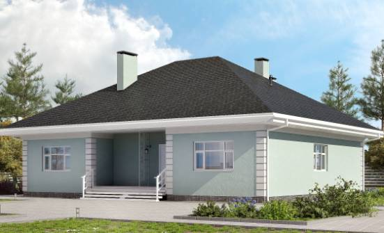 135-003-L One Story House Plans, modest Blueprints,