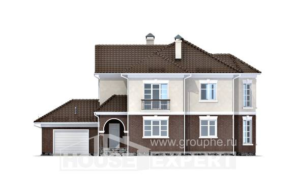 190-002-L Two Story House Plans and garage, cozy Construction Plans,