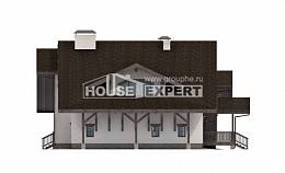 320-001-R Two Story House Plans with mansard with garage under, spacious Design House,
