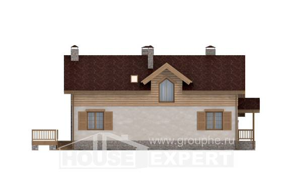 165-002-R Two Story House Plans with garage in front, economical Online Floor, House Expert