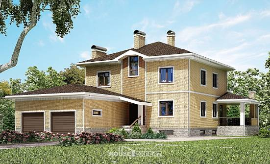 350-002-L Three Story House Plans with garage, luxury Timber Frame Houses Plans,