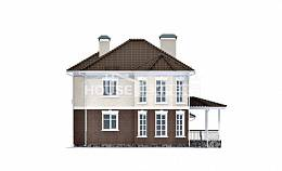 190-002-L Two Story House Plans with garage under, best house Models Plans,