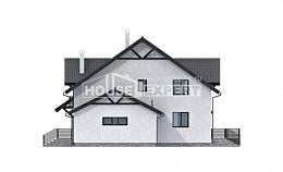 290-003-R Two Story House Plans with mansard and garage, classic Home Plans, House Expert