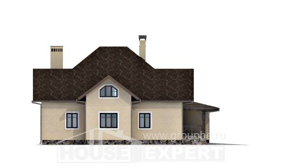 275-003-R Two Story House Plans with mansard with garage, beautiful House Online,