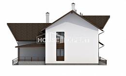 300-002-R Two Story House Plans and mansard and garage, cozy Home House,