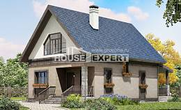 130-003-R Two Story House Plans with mansard roof, modest Architects House,