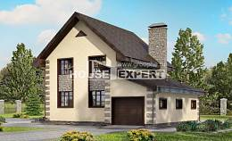 160-004-R Two Story House Plans with mansard with garage in front, modest Online Floor,