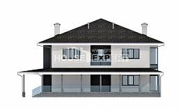 245-002-R Two Story House Plans with garage under, average Blueprints,