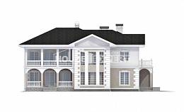 340-002-R Two Story House Plans with garage in back, cozy Plans Free,