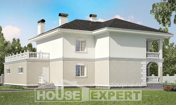 340-002-R Two Story House Plans with garage, modern Drawing House,