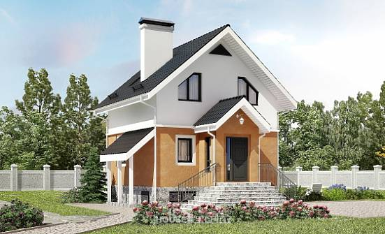 100-005-L Two Story House Plans with mansard, cozy Cottages Plans,