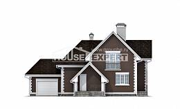 190-003-L Two Story House Plans with mansard roof and garage, average Plans To Build,