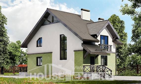 120-003-R Two Story House Plans, a simple Blueprints,