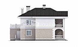 340-002-R Two Story House Plans with garage in back, beautiful House Plan,