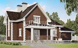 190-003-L Two Story House Plans and mansard with garage in back, beautiful Dream Plan,