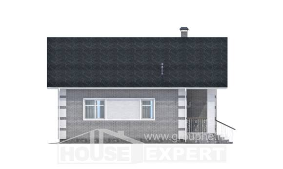 115-001-L Two Story House Plans and mansard, a simple Building Plan,