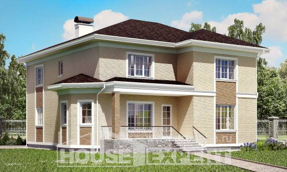 335-001-L Two Story House Plans with garage in front, luxury House Planes,