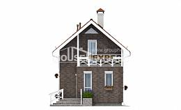 045-001-L Two Story House Plans with mansard roof, modern Plan Online,