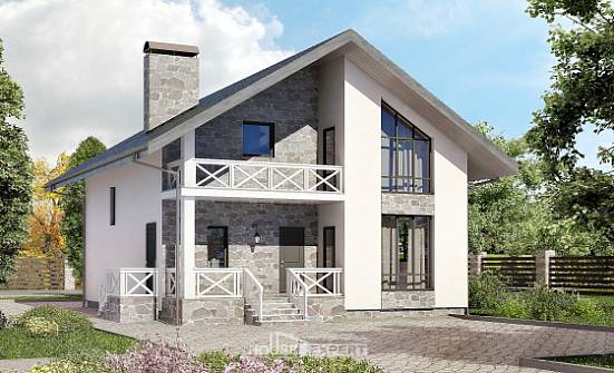 155-001-L Two Story House Plans and mansard with garage in front, available House Planes,