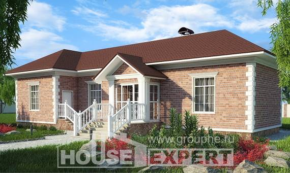 090-001-L One Story House Plans, compact Dream Plan,