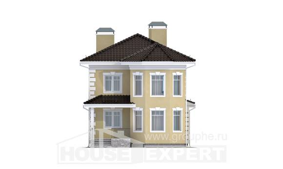 150-006-L Two Story House Plans and garage, beautiful Plans Free,