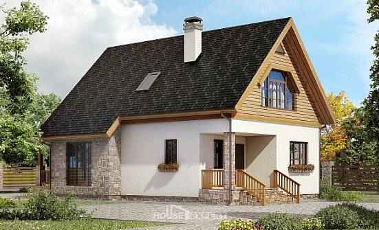 140-001-L Two Story House Plans and mansard, best house Timber Frame Houses Plans,
