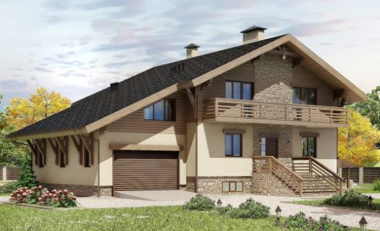 420-001-L Three Story House Plans with mansard roof with garage, cozy Home Plans,