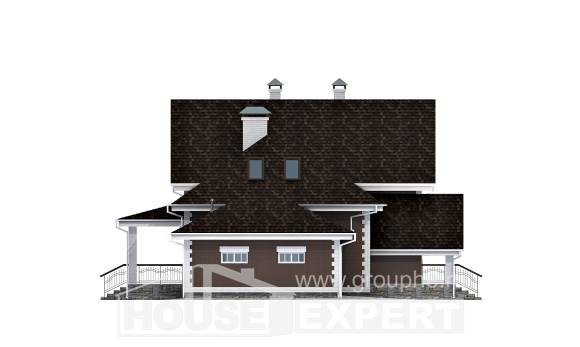 190-003-L Two Story House Plans and mansard and garage, best house Planning And Design,