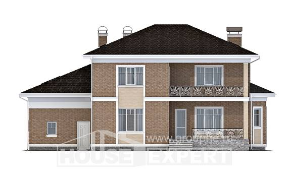 335-002-R Two Story House Plans with garage in back, beautiful Construction Plans,