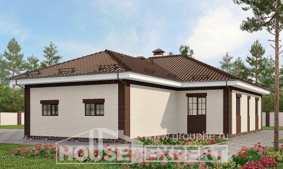 160-015-R One Story House Plans with garage in back, modest Custom Home Plans Online,