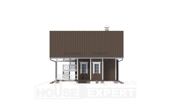 080-001-R Two Story House Plans and mansard, a simple Home Plans,