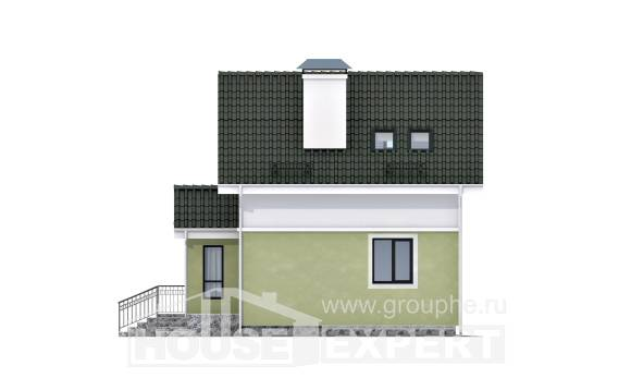 070-001-R Two Story House Plans with mansard roof, best house Architectural Plans,
