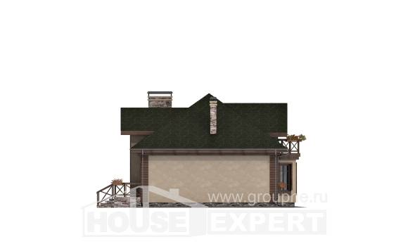 180-010-R Two Story House Plans and mansard with garage in front, classic Cottages Plans,