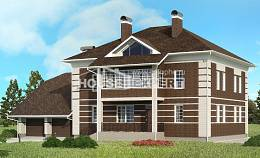 505-002-L Three Story House Plans and garage, modern Floor Plan,