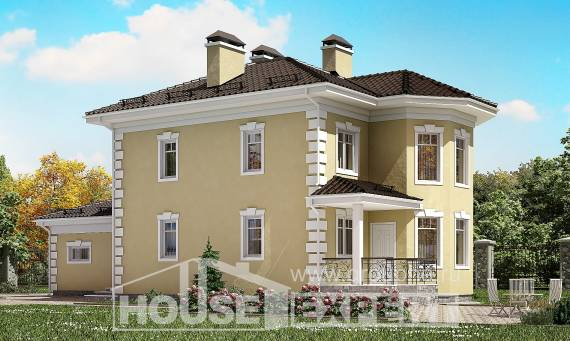 150-006-L Two Story House Plans with garage in front, small Cottages Plans,