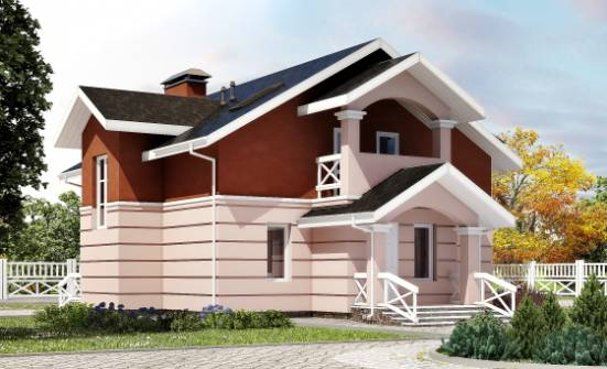 155-009-L Two Story House Plans with mansard roof, small House Plans,
