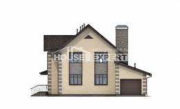160-004-R Two Story House Plans with mansard roof and garage, the budget Plans To Build,